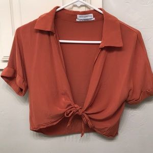 NWOT Tied Blouse